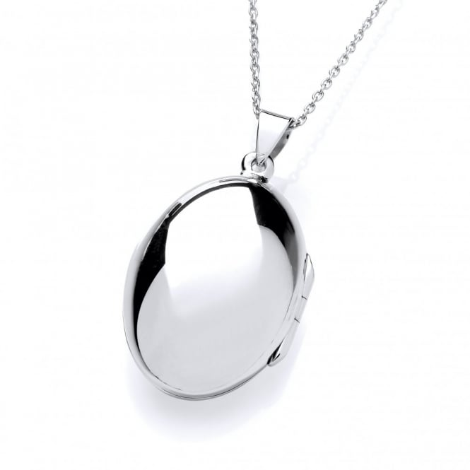 David Deyong Sterling Silver Polished Egg Locket