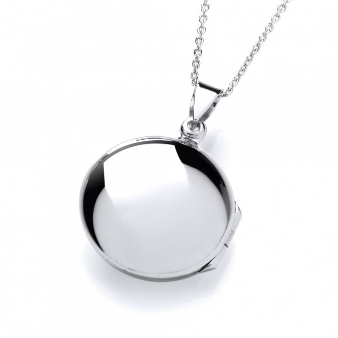 David Deyong Sterling Silver Polished Round Shaped Locket