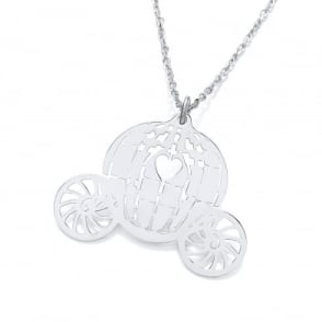 09cdc84a4a1734 Sterling Silver Princess Carriage Necklace. David Deyong Sterling Silver  Princess Carriage Necklace