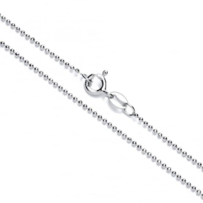 David Deyong Sterling Silver Rhodium Plated Diamond Cut Ball Chain