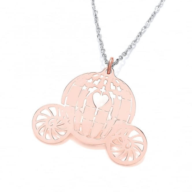 David Deyong Sterling Silver & Rose Gold Plated Carriage Necklace