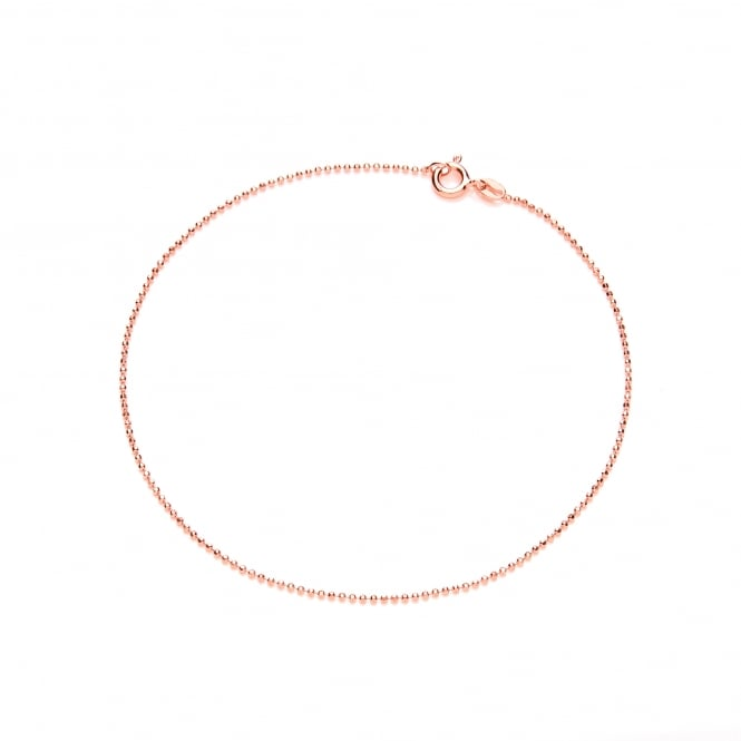 David Deyong Sterling Silver & Rose Gold Plated Classic Ankle Chain