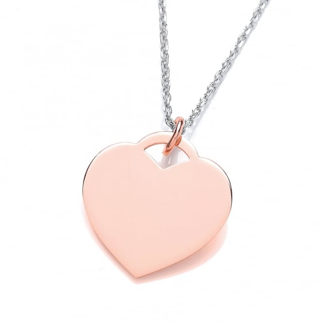 David Deyong Sterling Silver & Rose Gold Plated Classic Heart Necklace