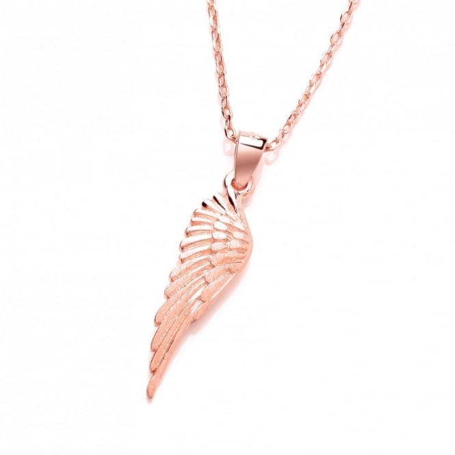David Deyong Sterling Silver & Rose Gold Plated Small Wing Necklace