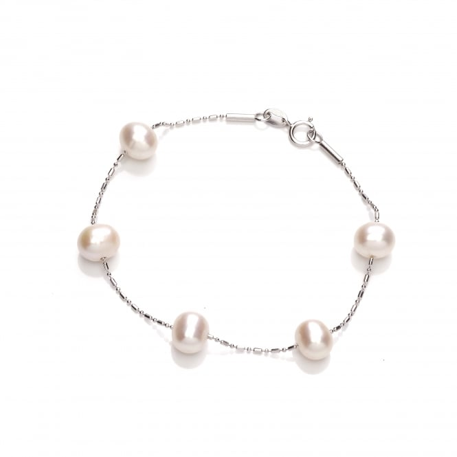 David Deyong Sterling Silver Scattered Pearl Bracelet