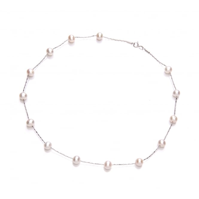 David Deyong Sterling Silver Scattered Pearl Necklace