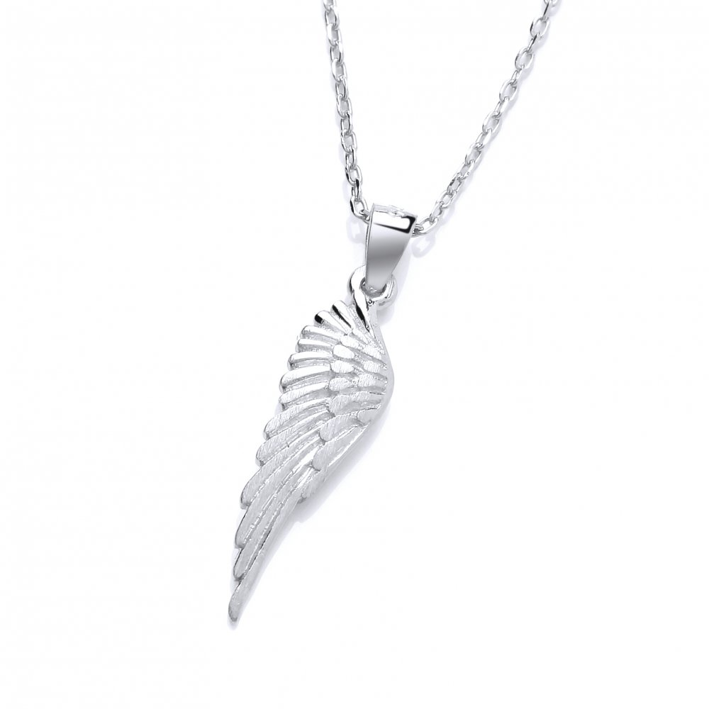 86a459906035b David Deyong Sterling Silver Small Wing Necklace