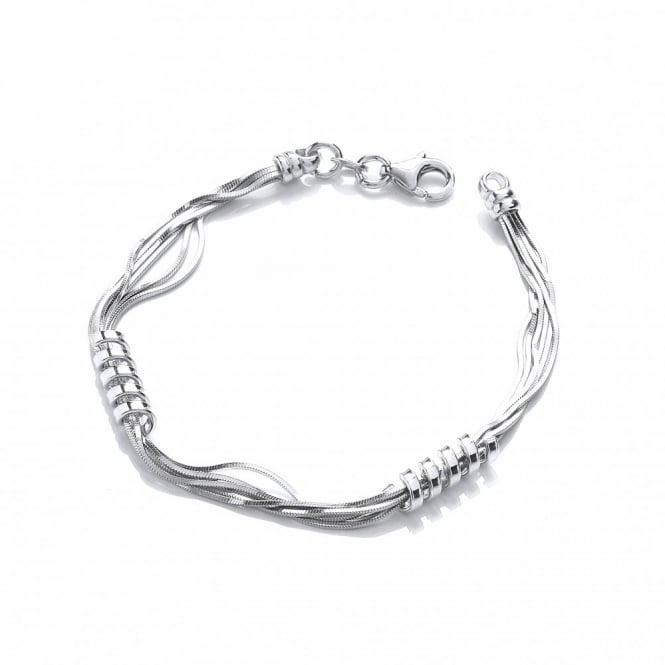 David Deyong Sterling Silver Snake Chain Spring Bracelet