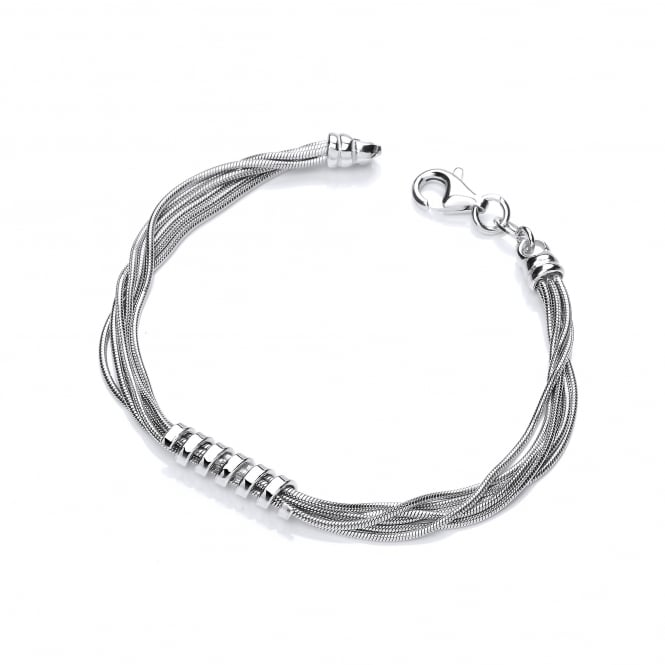 David Deyong Sterling Silver Spring & Chain Bracelet