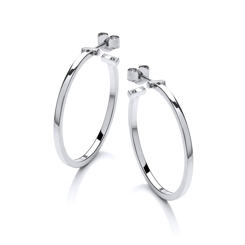 1a148ef0a David Deyong Sterling Silver Square Hoop Earrings - Sterling Silver ...