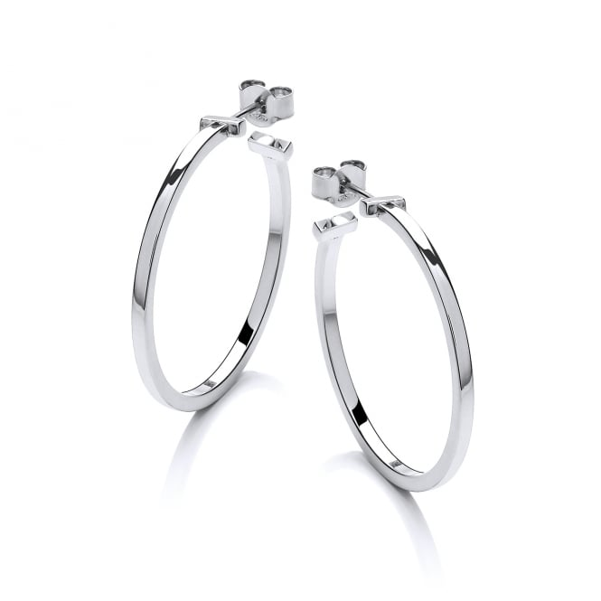 David Deyong Sterling Silver Square Hoop Earrings