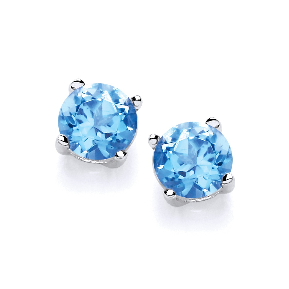 jewelry free miadora london shipping gold stud white blue product tgw earrings overstock today topaz watches