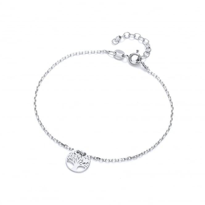 David Deyong Sterling Silver Tree of Life Fine Bracelet