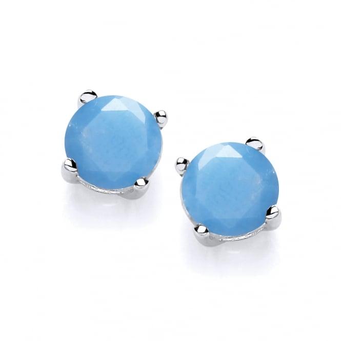 David Deyong Sterling Silver Turquoise Stud Earrings