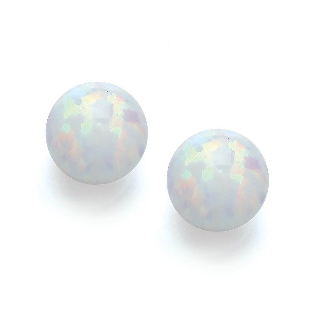 stud real solid natural black earrings facet cut studs opal pin