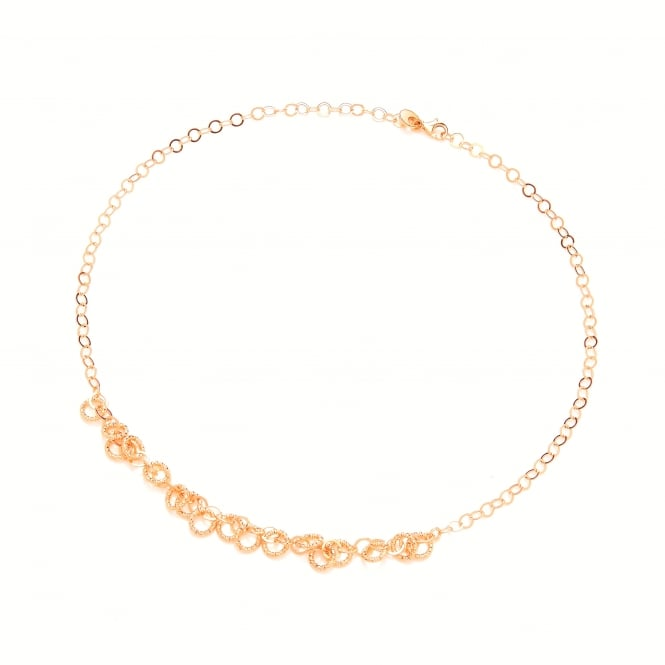 David Deyong Sterling Silver & Yellow Gold Diamond Cut Multi Circle Necklace