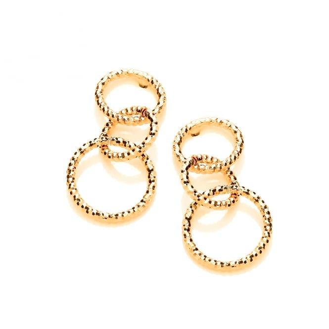 David Deyong Sterling Silver & Yellow Gold Mini Diamond Cut Drop Earrings