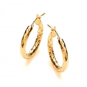 998b38396 Sterling Silver & Yellow Gold Plated Small Textured Hoop Earrings New In. David  Deyong ...
