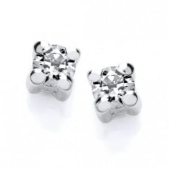 Sterling Silver 2mm Solitaire Claw Set Studs Made with Swarovski Zirconia