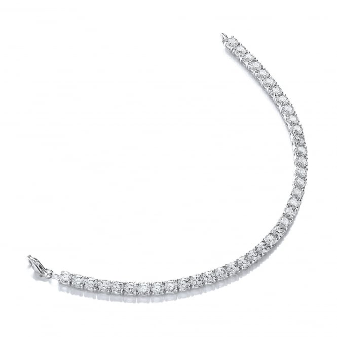 DiamonDust Jewellery Sterling Silver 4mm Tennis Bracelet Created with Swarovski® Zirconia