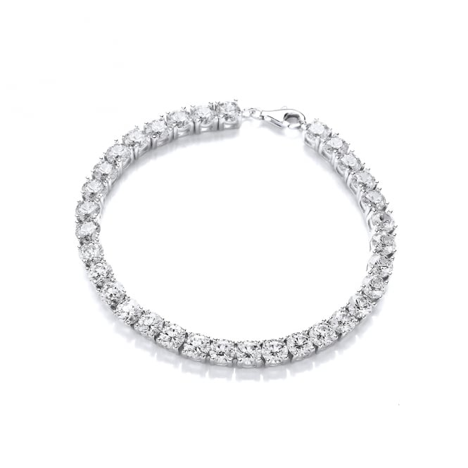 DiamonDust Jewellery Sterling Silver 5mm Tennis Bracelet Created with Swarovski® Zirconia