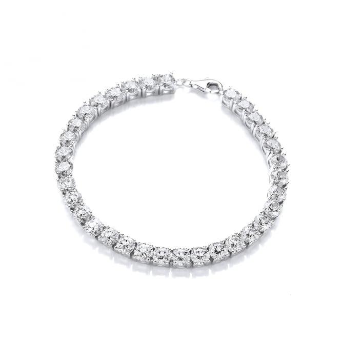 DiamonDust Jewellery Sterling Silver 5mm Tennis Bracelet Created with Swarovski® Zirconia