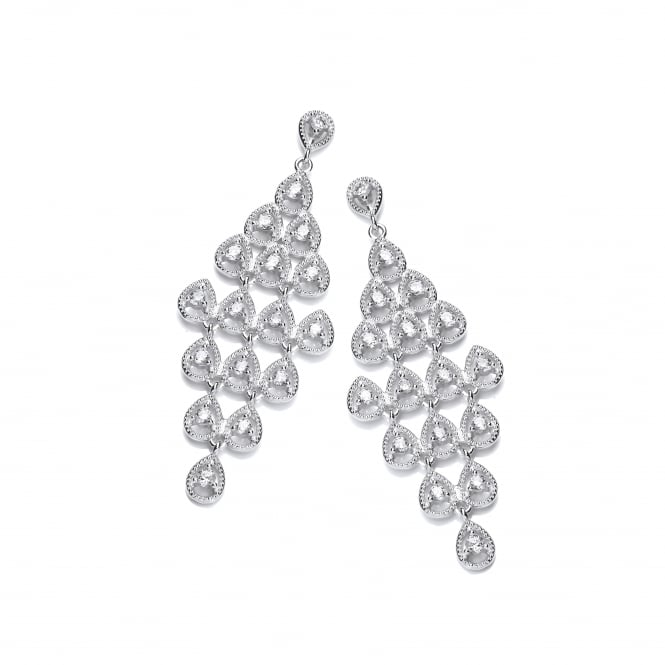 DiamonDust Jewellery Sterling Silver Chandelier Drop Earrings Made with Swarovski® Zirconia