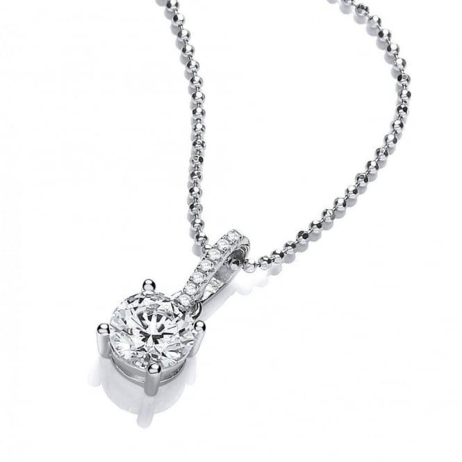 DiamonDust Jewellery Sterling Silver Claw Set Necklace Made with Swarovski Zirconia