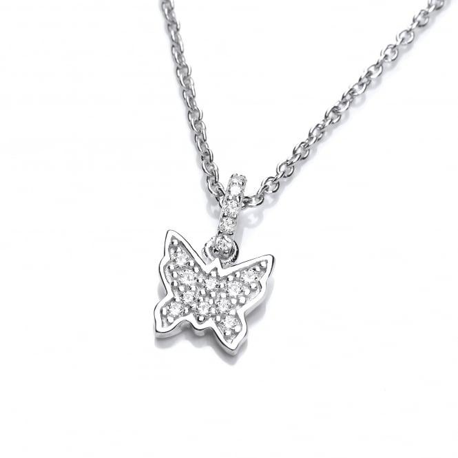 DiamonDust Jewellery Sterling Silver Dainty Butterfly Pendant & Chain Created with Swarovski® Zirconia