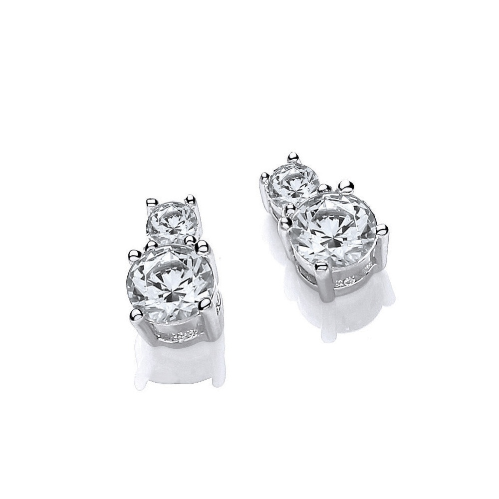 stud diamond ebay white brilliant earrings solitaire gold itm round