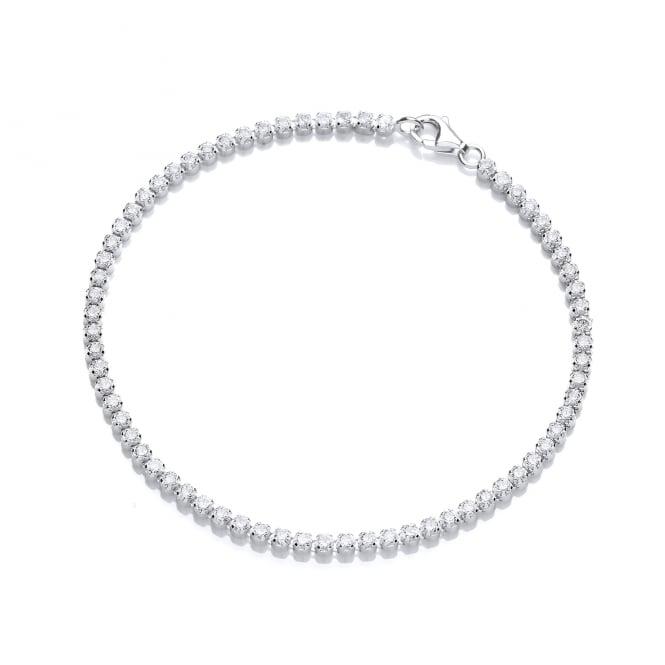 DiamonDust Jewellery Sterling Silver Fine Tennis Bracelet Made with Swarovski Zirconia