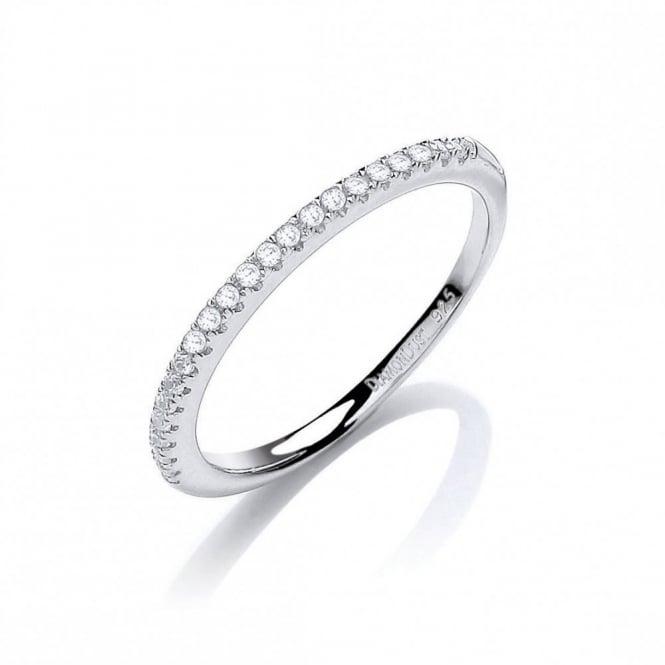 DiamonDust Jewellery Sterling Silver Half Eternity Ring Created with Swarovski® Zirconia