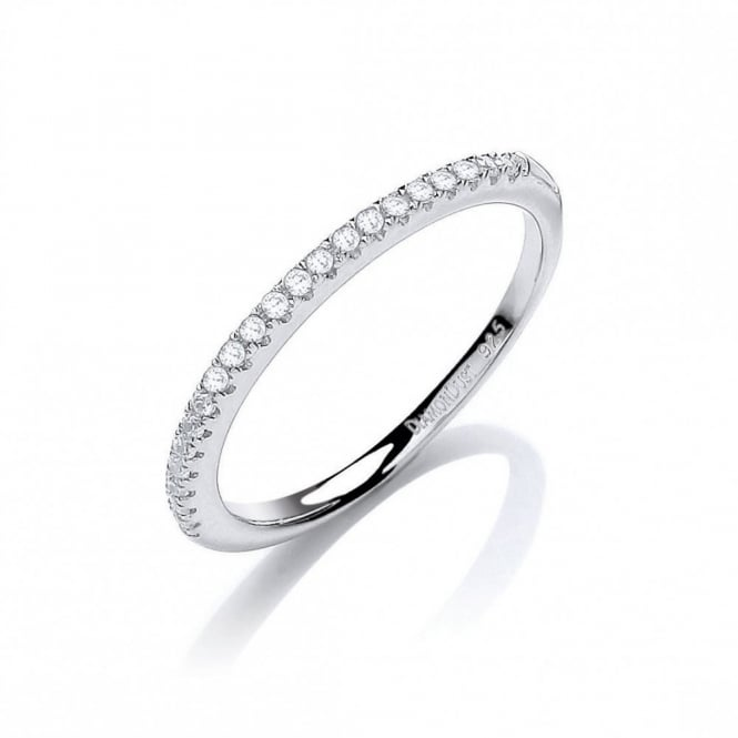 DiamonDust Jewellery Sterling Silver Half Eternity Ring Made with Swarovski Zirconia