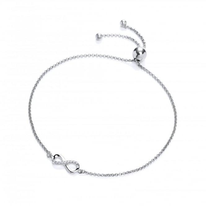 DiamonDust Jewellery Sterling Silver Infinity Friendship Bracelet Created with Swarovski® Zirconia