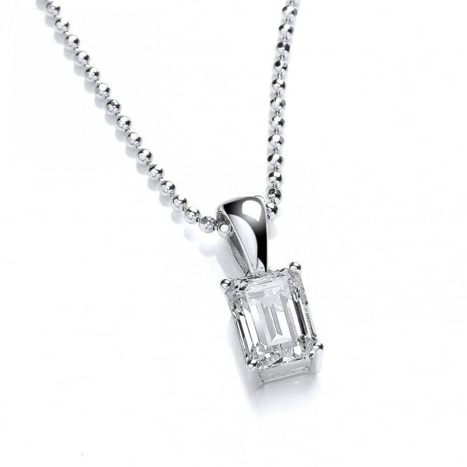 DiamonDust Jewellery Sterling Silver Octagon Cut Necklace Made With Swarovski Zirconia