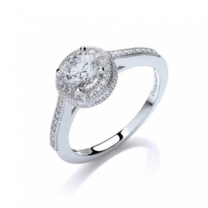 DiamonDust Jewellery Sterling Silver Round Cluster Ring Created with Swarovski® Zirconia
