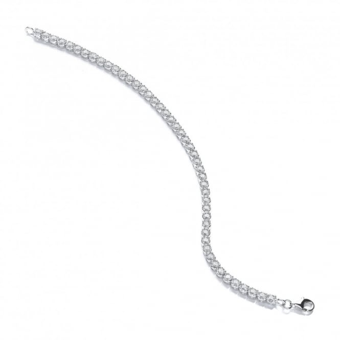 DiamonDust Jewellery Sterling Silver Tennis Bracelet Made with Swarovski® Zirconia