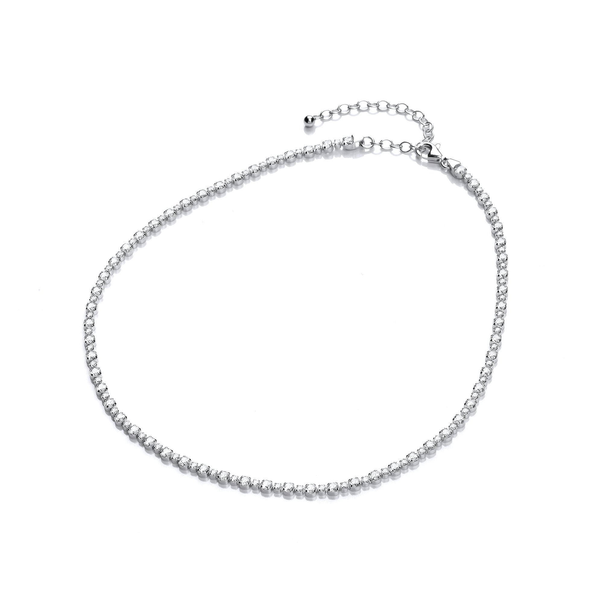 925 sterling silver tennis choker and necklaces