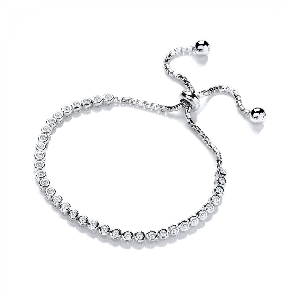 Swarovski Zirconia Silver Tennis Friendship Bracelet By David Deyong