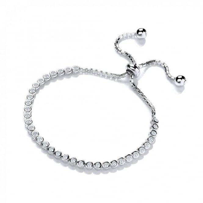 DiamonDust Jewellery Sterling Silver Tennis Friendship Bracelet Created with Swarovski® Zirconia