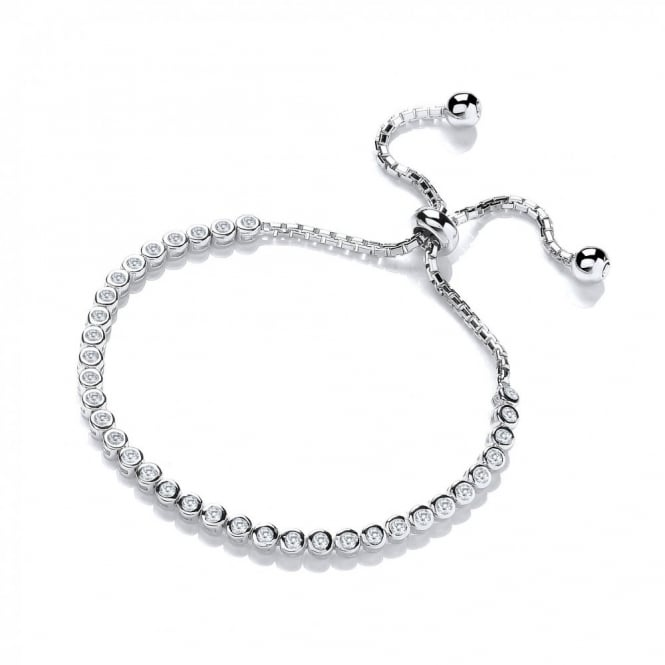 DiamonDust Jewellery Sterling Silver Tennis Friendship Bracelet Made with Swarovski Zirconia