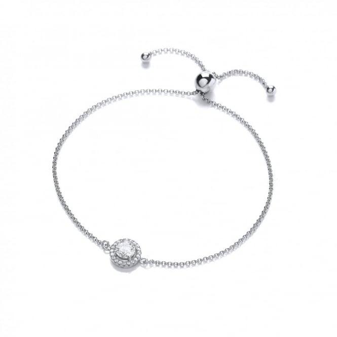 DiamonDust Jewellery Sterling Silver Cluster Friendship Bracelet