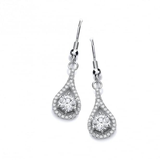 DiamonDust Jewellery Sterling Silver Drop Earrings With Hooks Made With Swarovski Zirconia