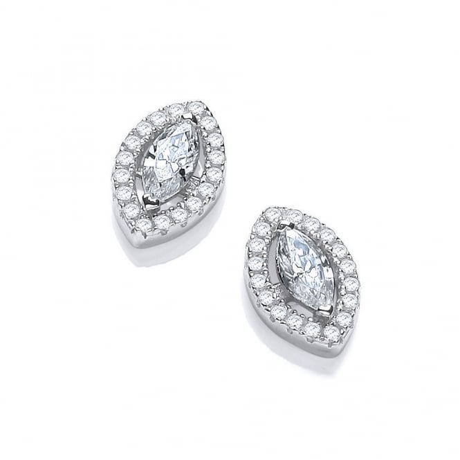 DiamonDust Jewellery Sterling Silver Marquise Earrings Made with Swarovski Zirconia